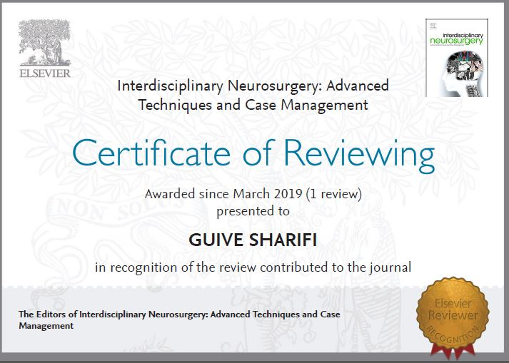 Certificate of reviewing